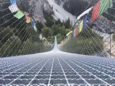 Bhutan-Superlative-Hängebrücke