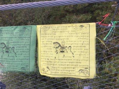 Bhutan-Buda-Gebetsfahnen