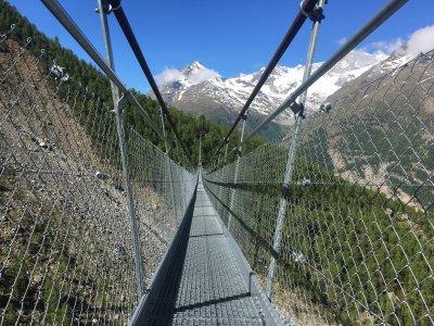 Die längste Fussgängerhängebrücke der Welt