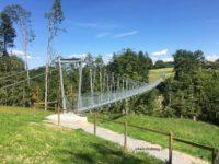 Hängebrücke Grub von der Seite