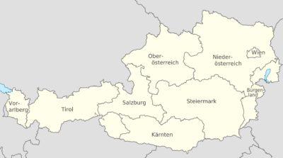 Alle Bundesländer von Österreich