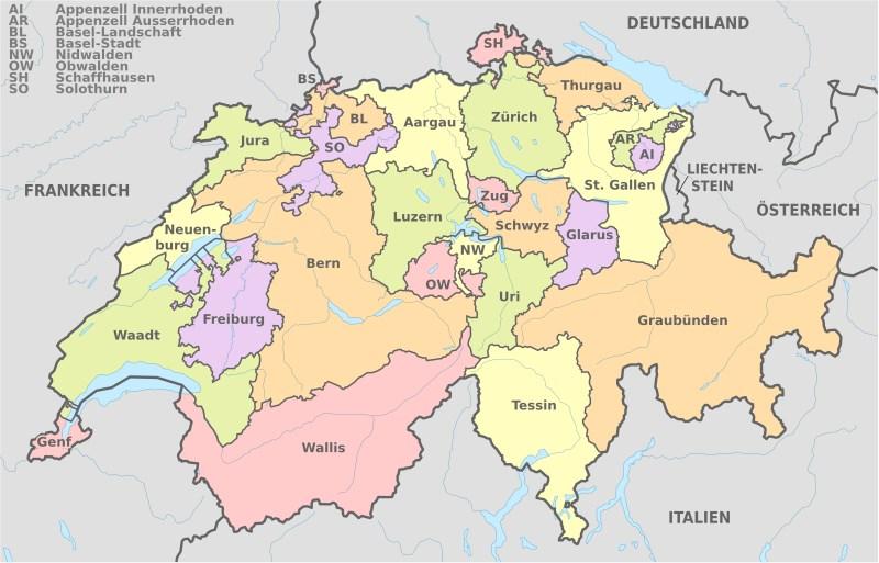 Alle Schweizer Kantone