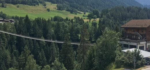 Hängebrücke bei Bellwald